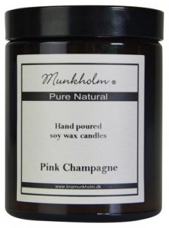 Soy Wax Lys - Pink Champagne 180ml.