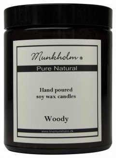 Soy Wax Lys - Woody 180ml.